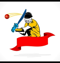 batsmen hit the ball banner design vector image