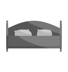 Bed icon black monochrome style vector