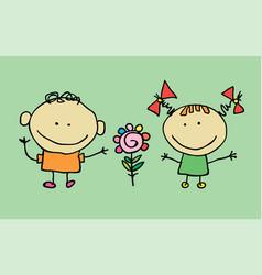 cute cartoon children vector image