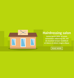 hairdressing salon banner horizontal concept vector image