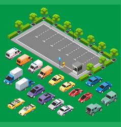 isometric urban transport concept vector image