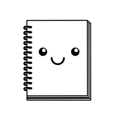 Kawaii note book vector