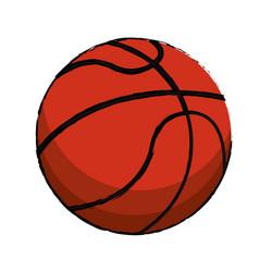 Basketball sport ball image vector