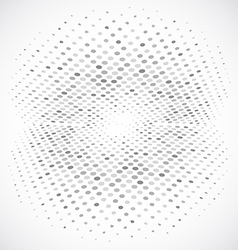 Blue Halftone Circle Design vector image vector image