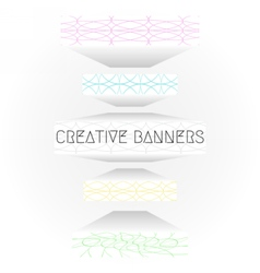 creative web banners vector image