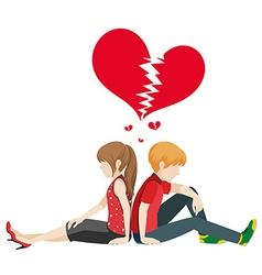 Faceless couple vector image vector image