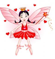 fairy ballerina vector image vector image