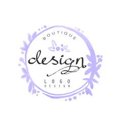 Fashion logo design badge for clothes boutique vector