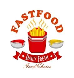 French fries fast food menu symbol vector image