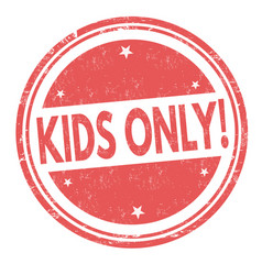 kids only grunge rubber stamp vector image vector image