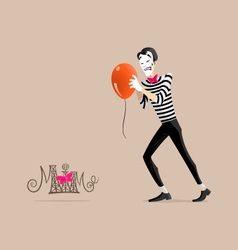 Mime performance - get it moving vector image vector image