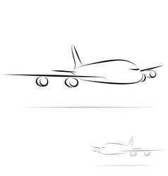stylized plane vector image