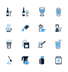 utensils for beverages icons set vector image vector image