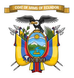 ecuadorian coat of arms vector image