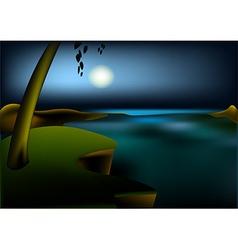 Hight ocean landscape vector image vector image