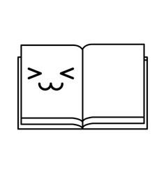 Kawaii open notebook vector