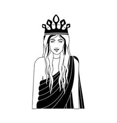queen casino icon vector image