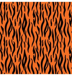 Abstract animal print Seamless pattern with tiger vector image