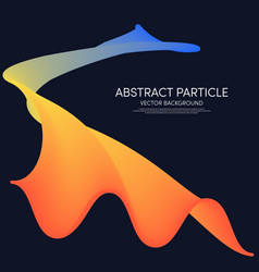Abstract gradient geometric poster template vector