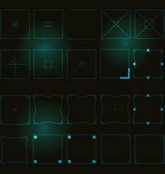 Abstract square hud elements vector