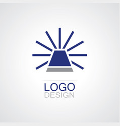 Alarm lamp logo vector
