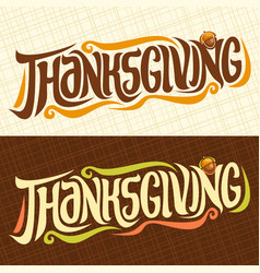Banners for thanksgiving vector