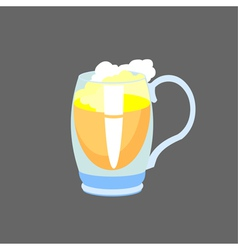 Beer in glass mug vector