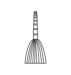 Besom icon outline style vector