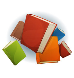 Books stack flying vector