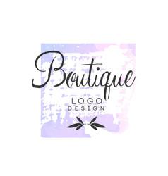 boutique logo design badge for fashion clothes vector image