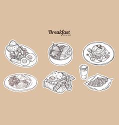 Breakfast brunch healthy start day options food vector