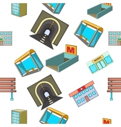 Building pattern cartoon style vector