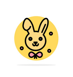 bunny easter rabbit abstract circle background vector image