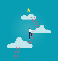 business opportunity-ladder success vector image