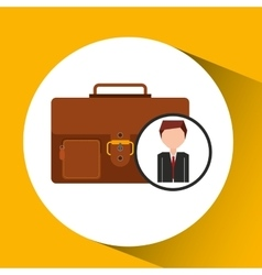 Businessman character suitcase concept vector