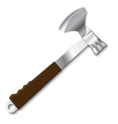 Butcher axe with mallet vector