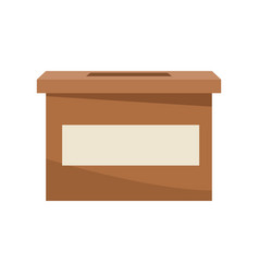 Carton box elections democracy decision vector