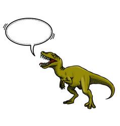 Cartoon image of dinosaur vector