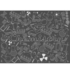Chemistry chalk vector