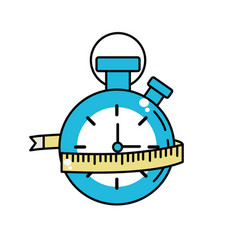 Chronometer with meter to practice exercise vector