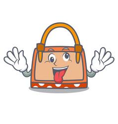 Crazy hand bag mascot cartoon vector