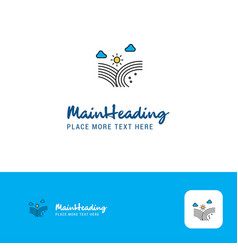 creative wind blowing logo design flat color logo vector image