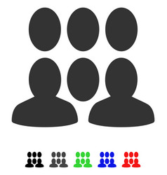 Crowd flat icon vector