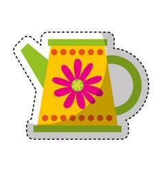 Cute sprinkler garden icon vector