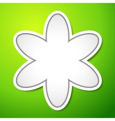 Cutout flower sign with shadows on green vector
