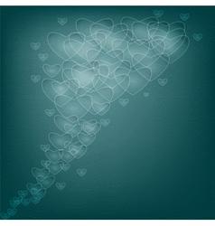 Dark hearts vector image