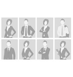 default placeholder man and woman half-length por vector image