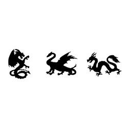 Dragon icon isolated on background vector