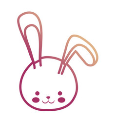 easter rabbit head vector image