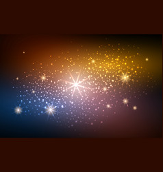 Festive blur gold space background vector